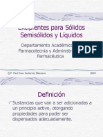 Excipientes para Solidos Semisólidos y Líquidos 2004