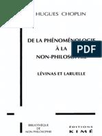 choplin-hughes--de-la-phénoménologie-à-la-non-philosophie