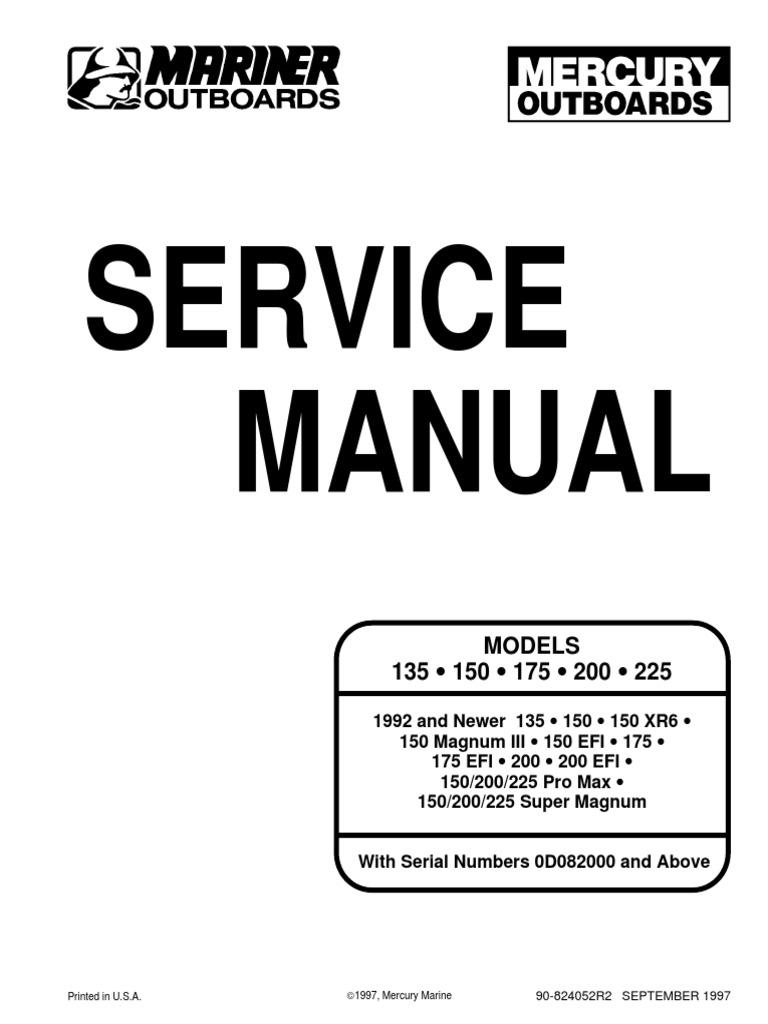 Mercury 200 Hp Efi Service Manual Best Setting Instruction Guide 2002 Outboard Wiring Diagram Xri Internal Combustion Engine Propeller Rh Scribd Com 150