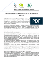 Comunicado - aterro Cadaval 21-08-2009