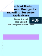 POST-PETROLEUM ENERGETICS AND SEA WATER AGRICULTURE, with Dennis Bushnell