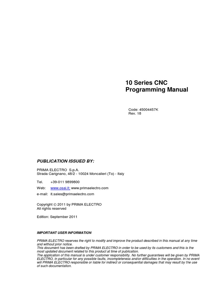 10 Series CNC OSAI Programming manual (Rev 18 - 4457k)   Bracket    Numerical Control