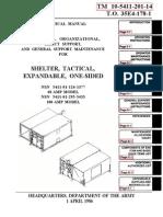 TM 10-5411-201-14 ISO-2-1 SHELTER, EXPANDABLE ,ONE-SIDED