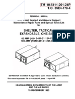 TM 5411-201-24P ISO-2-1 SHELTER, EXPANDABLE, ONE-SIDED