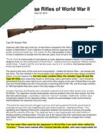 The Japanese Rifles of World War II