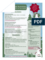 2013 Holiday Events Flyer