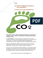 Reduction of Carbon Footprint