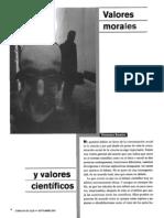 Savater Fernando - Valores Morales Y Valores Cientificos