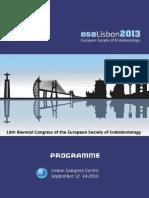 ESE Scientific Programme Lisbon 2013