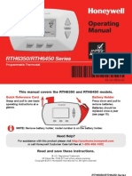 Rth6450d 5 1 1 Programmable Thermostat Operating Manual
