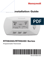 Rth6450d 5 1 1 Programmable Thermostat Installation Manual
