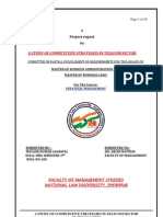 Study of Competetive Strategies in Telecom Sector