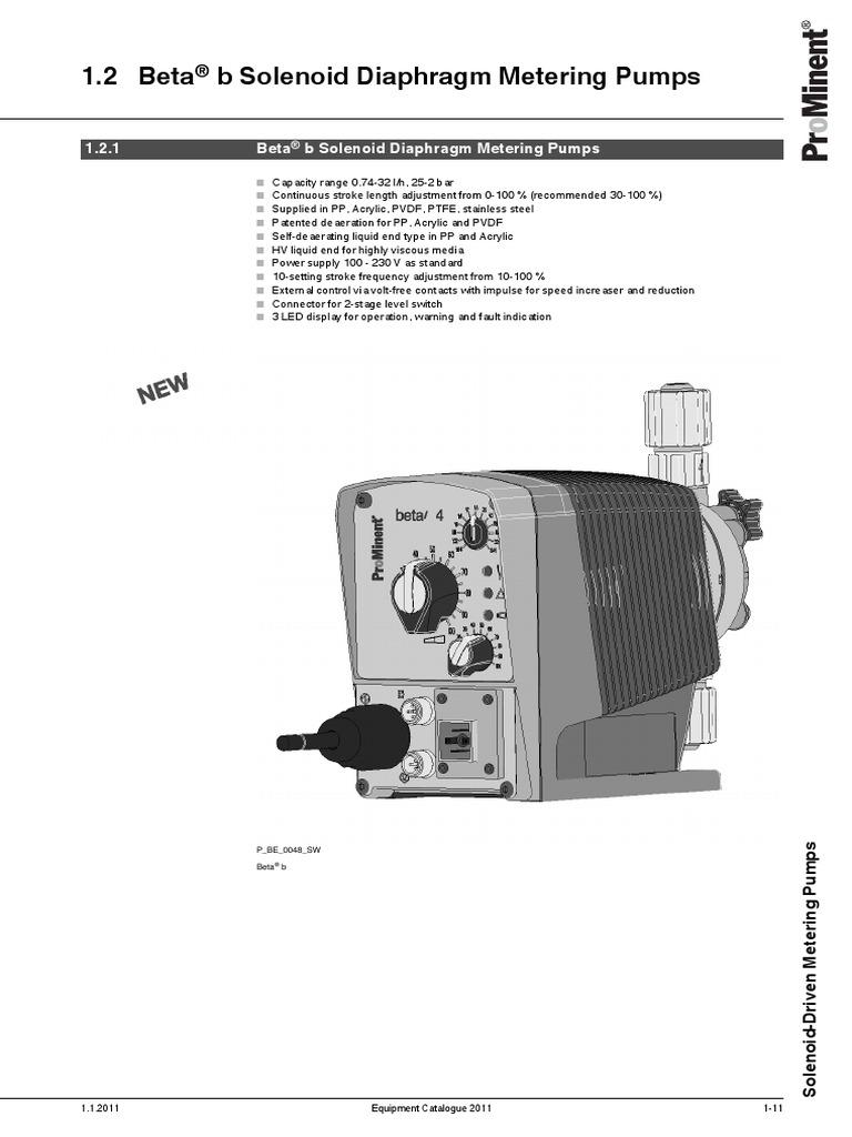 ProMinent Beta b Solenoid Diaphragm Metering Pumps | Valve | Pump