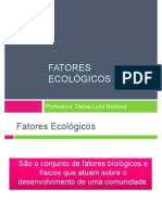 Aula 2 - Fatores Ecolgicos
