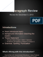 multi paragraph review