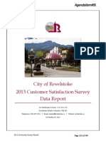 City of Revelstoke 2013 Cutomer Service Survey