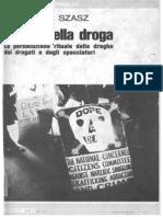 Il Mito Della Droga Thomas S. Szasz