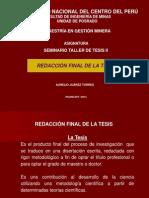 REDACCIÓN FINAL DE LA TESIS