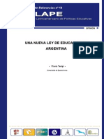 TERIGI Una nueva ley de educación en Argentina