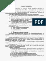 CROMATOGRAFIA - CHIMIE GENERALĂ, LP, ANUL I, BIOLOGIE