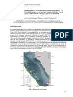 Principales Minerales en Sedimentos Superficiales de La Plataforma Continental