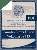 CERES News Digest - Week13, Vol.3; Nov 30-Dec 6