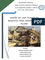 DISEÑO DE UNA PLANTA CONCENTRADORA DE PLOMO DE 300 TM DE CAPACIDAD