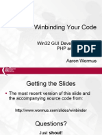 Winbinding Your Php