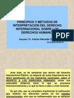 PRINCIPIOS Y MÉTODOS DE INTERPRETACIÓN DE DERECHOS HUMANOS