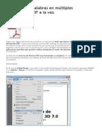 Cómo buscar palabras en múltiples documentos PDF a la vez