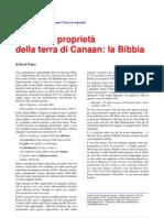 Il titolo di proprietà della Terra di Canaan