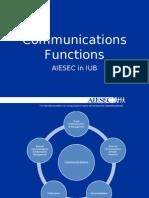 AIESEC IUB Communications Functions