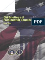 Getting to Know the President - CIA Briefings of Presidential Candidates 1952-1992