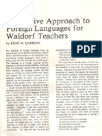 A Creative Approach to Foreing Learning for Waldorf Teachers Rene Querido