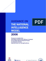 ACPOS Guidance - UK National Intelligence Model