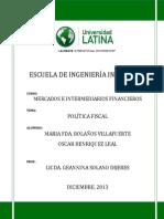 Escrito Politica Fiscal.docx