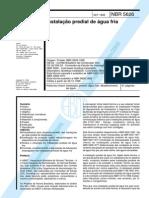 NBR 5626 - 1998 - Instação Predial de Água Fria OK.pdf