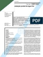 NBR 5626 NB 92 - Instalação Predial de Água Fria.pdf