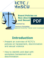RCTC Policies on Harassment and Discrimination