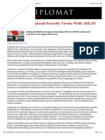 Thayer China's New Regional Security Treaty With ASEAN