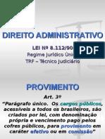 Aulas de Direito Administrativo - Lei 8112/90