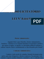 Aulas de Processo Licitátorio
