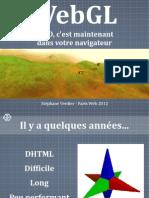WebGL La 3D Cest Maintenant-StephaneVerdier