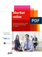 Market Value - Professional Investors Views on Financial Reporting in Canada