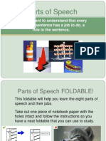 parts of speech foldable power point
