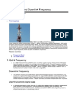 GSM Uplink and Downlink Frequency