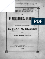 Los Últimos Días de José Miguel Carrera(José María Torres)