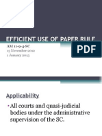 Efficient Use of Paper Rule (PPT)