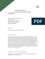 Codigo Civil y Comercial de Cordoba