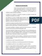 PROCESO DE REFINACIÓN